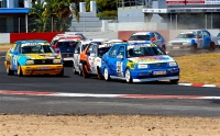 This is as close as anyone got to Nian du Toit in Saturday's Bold Marine GTi Challenge races